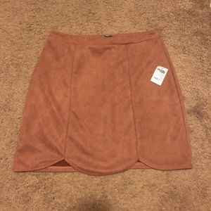 NWT Faux Suede Rose Skirt